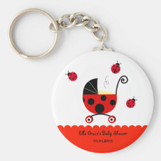 Ladybug Baby Shower Party Favor Keychains