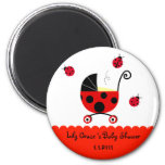 Ladybug Baby Shower Party  Favour Magnets