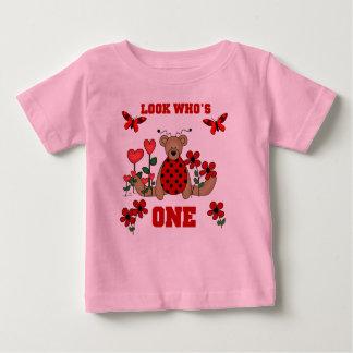 Ladybug Bear 1st Birthday Baby T-Shirt