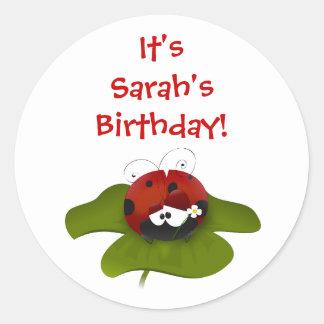 Ladybug Birthday Stickers