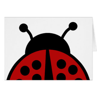 Ladybug blank card for your text
