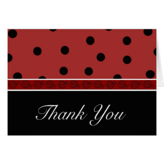 Ladybug Blank Thank You Card