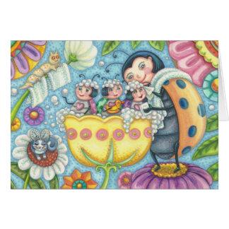 Ladybug Bubblebath LADYBUG FAMILY BLANK NOTE CARD