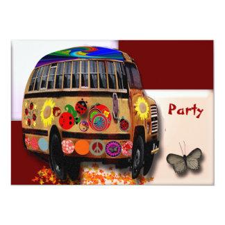 "Ladybug Bus 5"" X 7"" Invitation Card"
