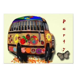 Ladybug Bus Personalized Invite