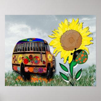 Ladybug bus poster