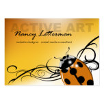 Ladybug Business Card template | orange yellow