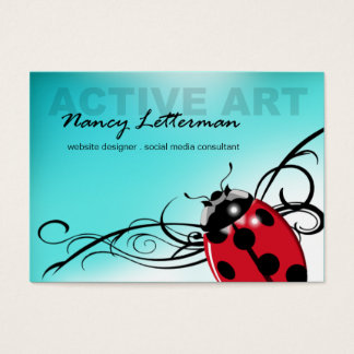 Ladybug Business Card template (red)