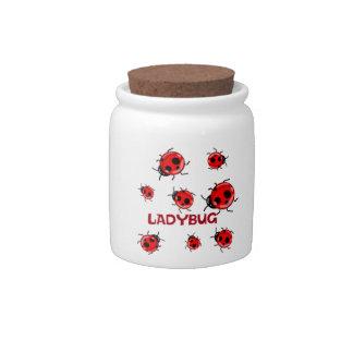 LADYBUG CANDY JAR