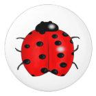 Ladybug Ceramic Knob