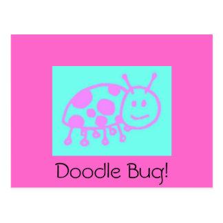 Ladybug Clipart Postcard