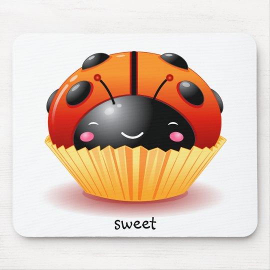 Ladybug Cupcake Mousepad
