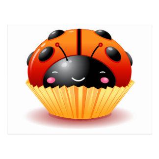 Ladybug Cupcake Postcard