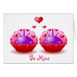 Ladybug Cupcakes Valentine Card