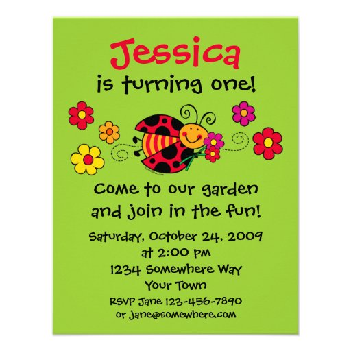 Ladybug Cute As A Bug Custom Invitation