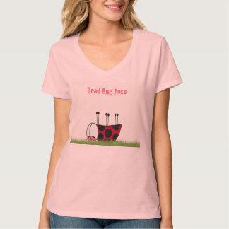 Ladybug Dead Bug Yoga Pose T-Shirt