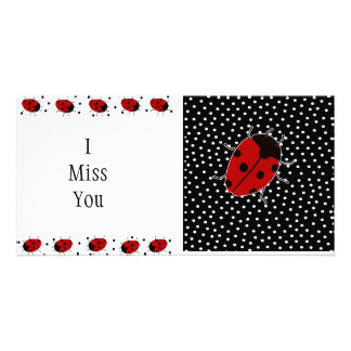 Ladybug Dot Stationary Card