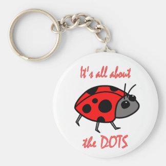 Ladybug Dots Keychain