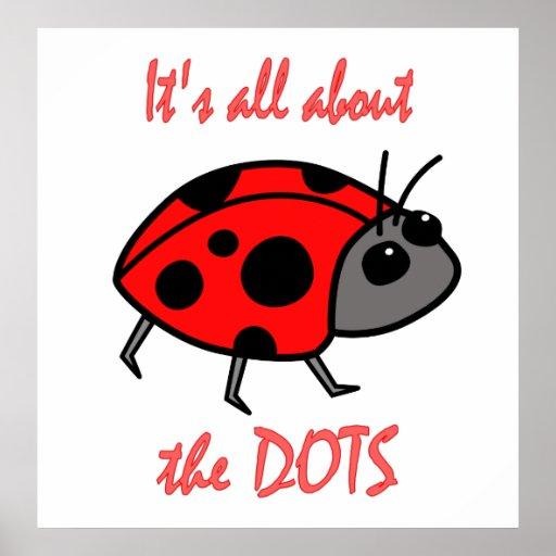 Ladybug Dots Poster