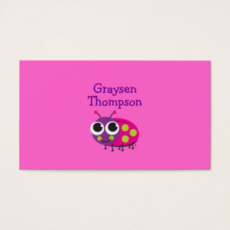 Ladybug Enclosure Card