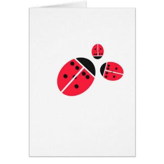 ladybug family card