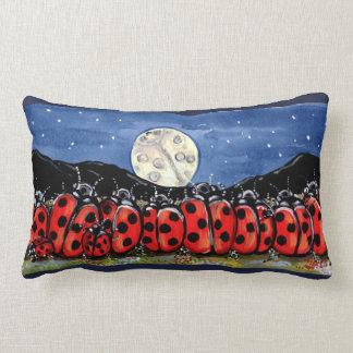 Ladybug  Family Moon Night Designer Accent Pillow