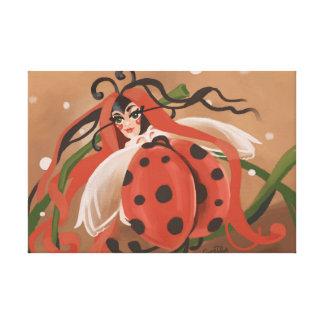 Ladybug fantasy canvas print