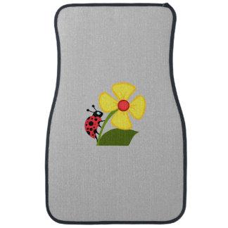 Ladybug Flower Auto Mat