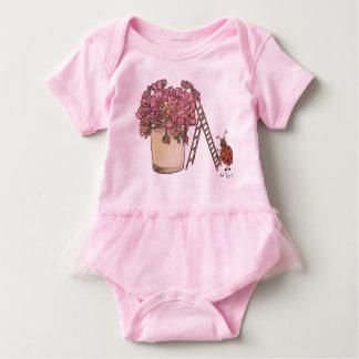 Ladybug Flowery Baby Bodysuit
