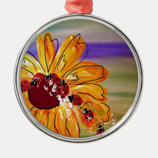 LADYBUG FOLLOW THE LEADER Silver-Colored ROUND ORNAMENT