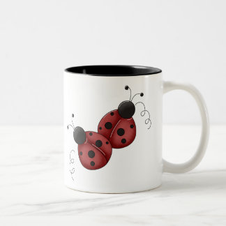 Ladybug Friends Two-Tone Coffee Mug