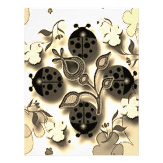 Ladybug garden letterhead