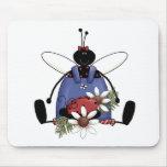Ladybug Garden Mouse Pads