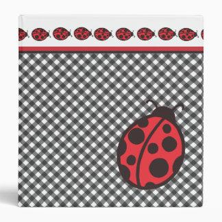 Ladybug Gingham Binder