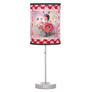 Ladybug Girl Table Lamp