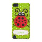 Ladybug girls name green ipod touch case