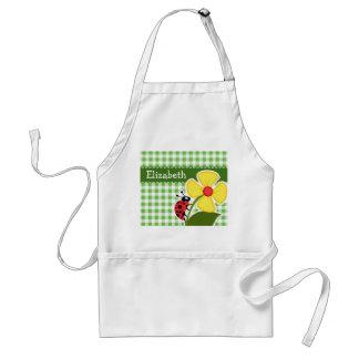 Ladybug; Green Checkered; Gingham Aprons