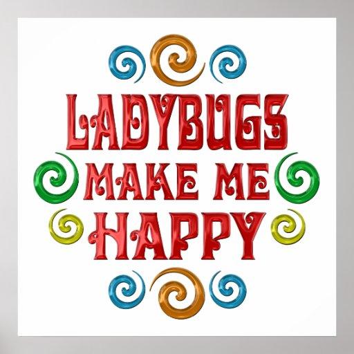 Ladybug Happiness Posters