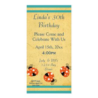 Ladybug Happy Birthday Customized Photo Card
