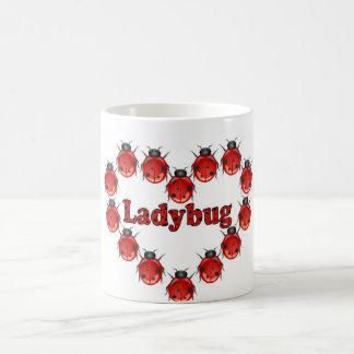 Ladybug Heart Coffee Mug