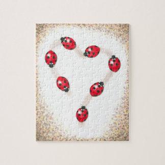Ladybug Heart Jigsaw Puzle Jigsaw Puzzle