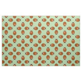 Ladybug in orange fabric