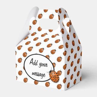 Ladybug in orange favor box