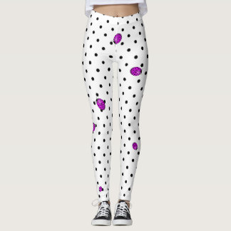Ladybug in pink/purple leggings