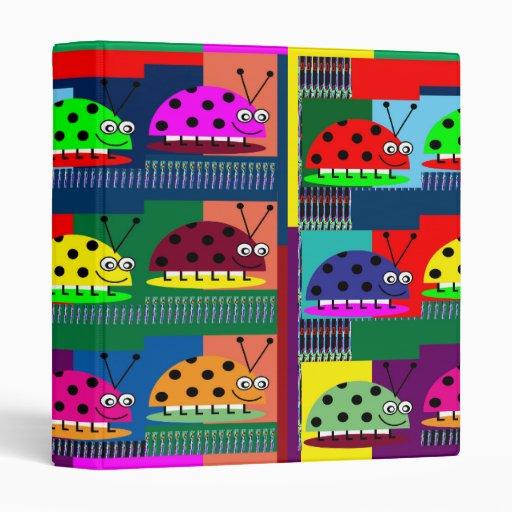LADYbug KIDS FUNNY Comic Collection Art PHOTOS FUN Vinyl Binder