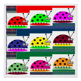 LadyBUG lady Bug Insect KIDS Love Colorful Display Perfect Poster