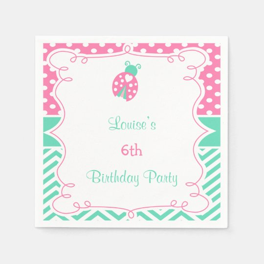 Ladybug Ladybird Birthday Party Disposable Napkin