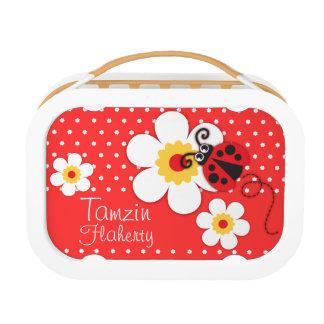 Ladybug / ladybird orange kids named lunch box