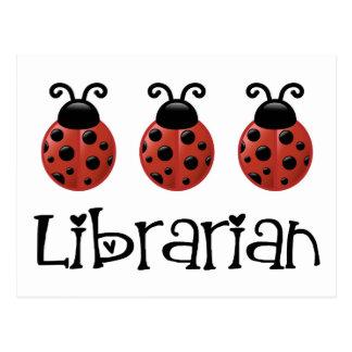 Ladybug Librarian Gift Postcard