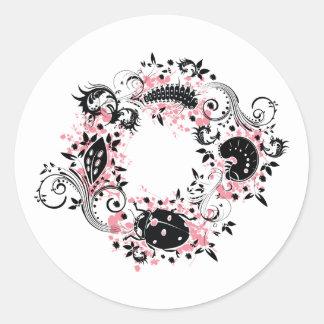 Ladybug Life Cycle Sticker - Pink